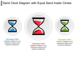 Sand Clock Diagram With Equal Sand Inside Circles