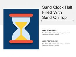 Sand Clock Half Filled With Sand On Top