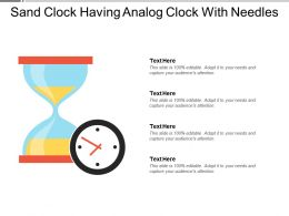 Sand Clock Having Analog Clock With Needles