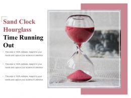 Sand Clock Hourglass Time Running Out