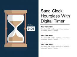 Sand Clock Hourglass With Digital Timer