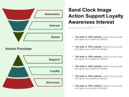 Sand Clock Image Action Support Loyalty Awareness Interest