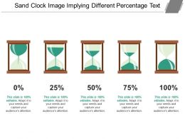 Sand Clock Image Implying Different Percentage Text