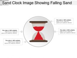 Sand Clock Image Showing Falling Sand
