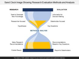 Sand Clock Image Showing Research Evaluation Methods And Analysis