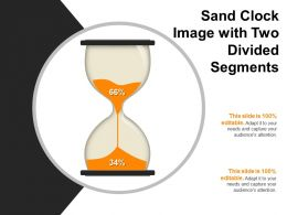 Sand Clock Image With Two Divided Segments