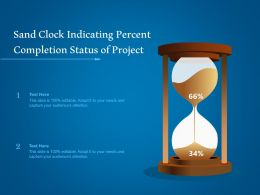 Sand Clock Indicating Percent Completion Status Of Project