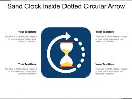 Sand Clock Inside Dotted Circular Arrow
