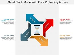 Sand Clock Model With Four Protruding Arrows