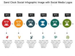 Sand Clock Social Infographic Image With Social Media Logos