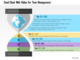 Sand Clock With Globe For Time Management Flat Powerpoint Design