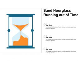 Sand Hourglass Running Out Of Time