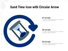 Sand Time Icon With Circular Arrow
