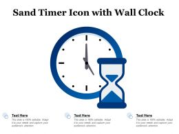 Sand Timer Icon With Wall Clock