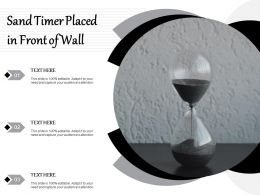 Sand Timer Placed In Front Of Wall