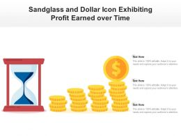Sandglass And Dollar Icon Exhibiting Profit Earned Over Time