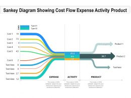 Sankey Diagram Showing Cost Flow Expense Activity Product
