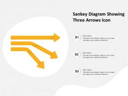 Sankey Diagram Showing Three Arrows Icon