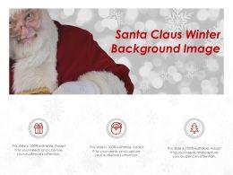 Santa Claus Winter Background Image