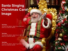 Santa Singing Christmas Carol Image
