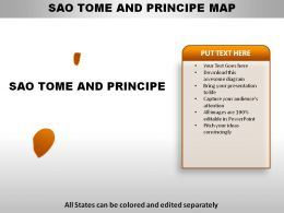 Sao Tome and Principe Country Powerpoint Maps