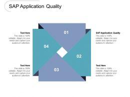 SAP Application Quality Ppt Powerpoint Presentation Slides Templates Cpb