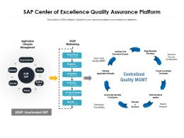 Sap Center Of Excellence Quality Assurance Platform