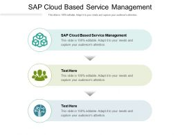Sap Cloud Based Service Management Ppt Powerpoint Presentation Slides Maker Cpb
