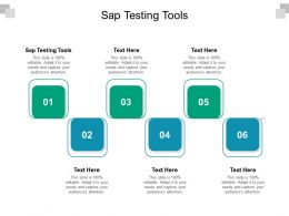 Sap Testing Tools Ppt Powerpoint Presentation Pictures Background Cpb