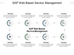Sap Web Based Service Management Ppt Powerpoint Presentation Inspiration Mockup Cpb