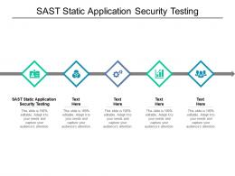 SAST Static Application Security Testing Ppt Powerpoint Presentation Styles Designs Cpb