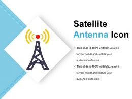 Satellite Antenna Icon Good Ppt Example