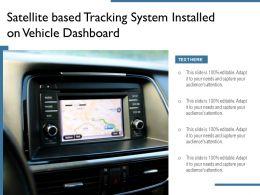 Satellite Based Tracking System Installed On Vehicle Dashboard