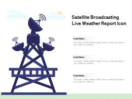 Satellite Broadcasting Live Weather Report Icon