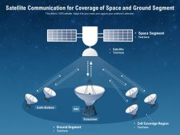 Satellite Communication For Coverage Of Space And Ground Segment