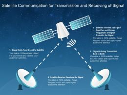 Satellite Communication For Transmission And Receiving Of Signal