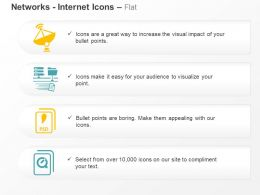 Satellite Communication Networking Psd Database Ppt Icons Graphics