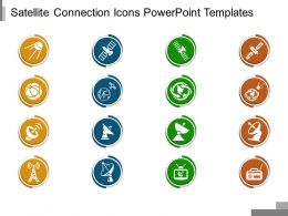 Satellite Connection Icons Powerpoint Templates