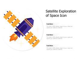 Satellite Exploration Of Space Icon