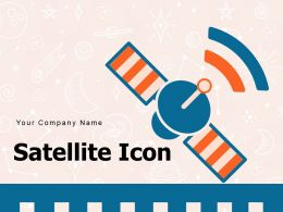 Satellite Icon Artificial Broadcasting Space Frequency Scientist Planets