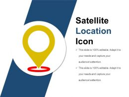 Satellite Location Icon Powerpoint Guide