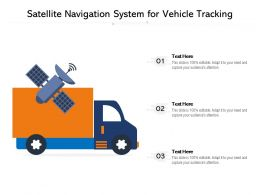 Satellite Navigation System For Vehicle Tracking