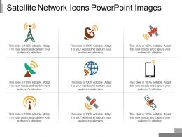 Satellite Network Icons Powerpoint Images