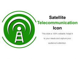 Satellite Telecommunication Icon Powerpoint Layout