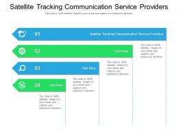Satellite Tracking Communication Service Providers Ppt Gallery Slides Cpb