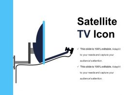 Satellite Tv Icon Powerpoint Presentation
