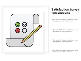 Satisfaction Survey Tick Mark Icon