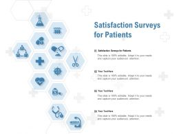 Satisfaction Surveys For Patients Ppt Powerpoint Presentation Summary Designs
