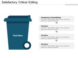 Satisfactory Critical Editing Ppt Powerpoint Presentation Icon Format Cpb