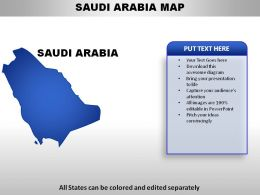 Saudi Arabia Country Powerpoint Maps